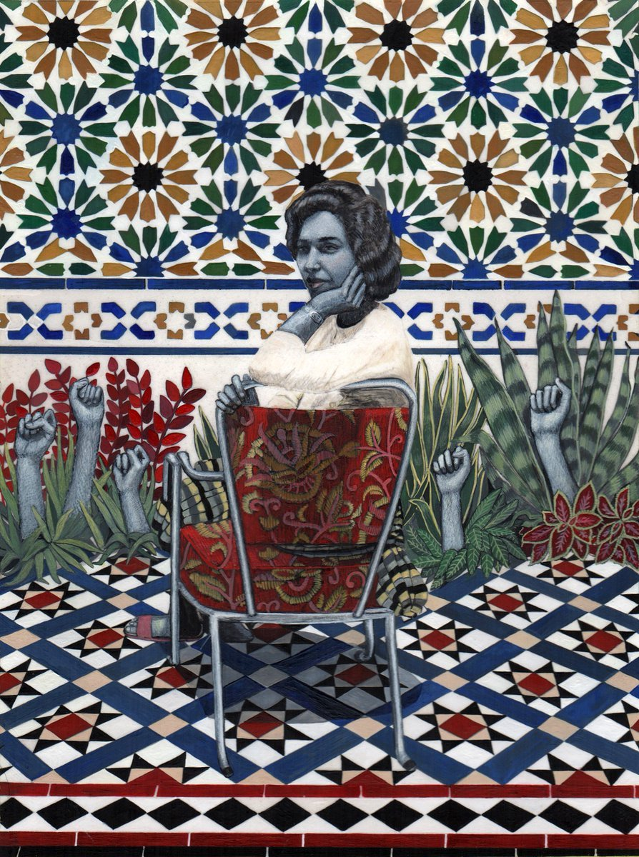 Soheila Sokhanvari is an Iranian-born artist whose work weaves layers of political histories and mysterious narratives #WomensArt