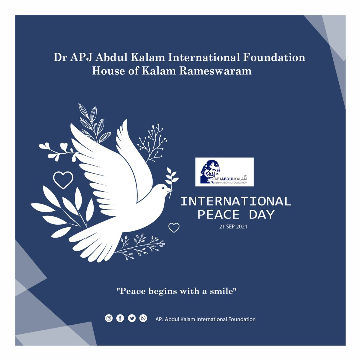 There is beauty in the character When there is beauty in the character There is harmony in the home When there is harmony in the home There is order in the nation When there is order in the nation There is peace in the world. #apjabdulkalam #apjabdulkalaminternationalfoundation https://t.co/fFjNJL5Daj