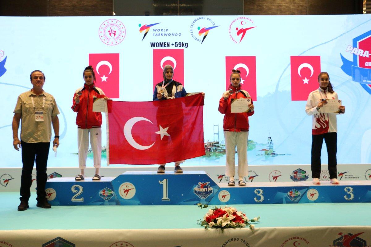 Tebrikler Fadime🥉🥋  Kulübümüz Taekwondo sporcularından Fadime Yıldırım, İstanbul'da düzenlenen 6. WT Başkanlık Kupası müsabakalarında bayanlar +59 kg  kategorisinde 3.'lük elde ederek bronz madalyanın sahibi oldu. Sporcumuzu ve antrenörlerimizi tebrik ediyoruz. 👏👏