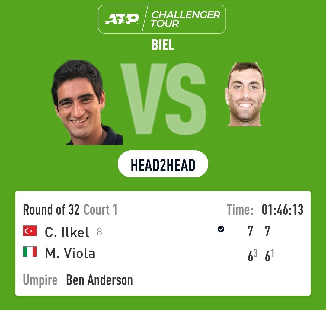 Cem İlkel Davis Cup'ın hemen ardından 8 numaralı seri başı olarak katıldığı Biel Challenger'da ilk maçını tie-break'e giden 2 sette kazanmayı başarıyor.