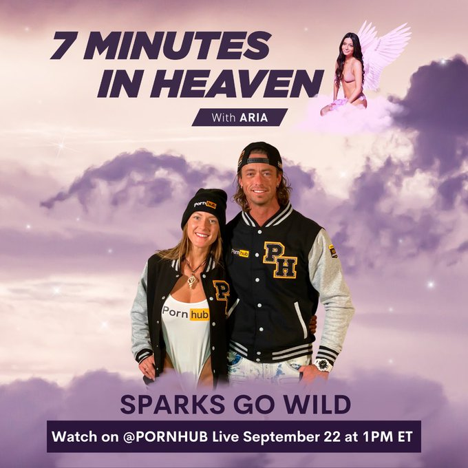 """Tune in tomorrow for my """"7 Minutes In Heaven"""" with @sparksgowild on Pornhub's Instagram Live at 1pm https://t"""