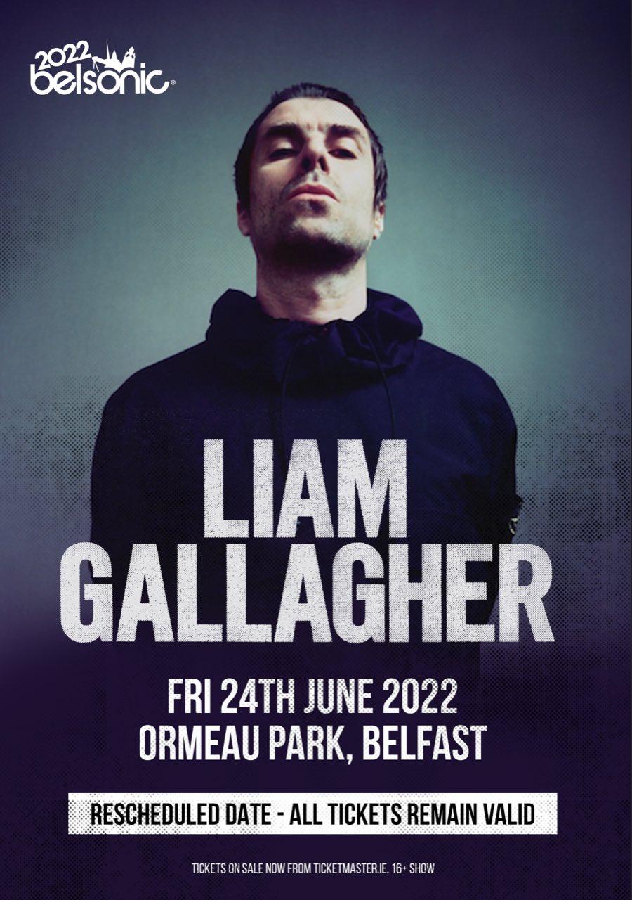 Liam Gallagher, poster de concierto en Belfast