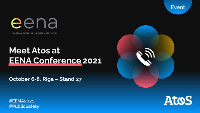 Save the date! 🗓️ Atos will be present at EENA Conference 2021, from October...