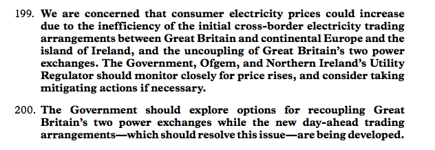 In anticipation of the usual 'hindsight is 20-20' and 'this is unprecedented' excuses, the Lords' EU Subcommittee on Energy published a report in March, that seemed quite clear on the matter. Did @KwasiKwarteng read it?