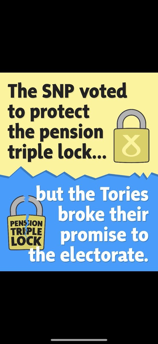 """The pension """"triple lock"""" was a Conservative manifesto promise. Last night at Westminster their MPs trooped through the lobbies to break that promise 👇🏻"""