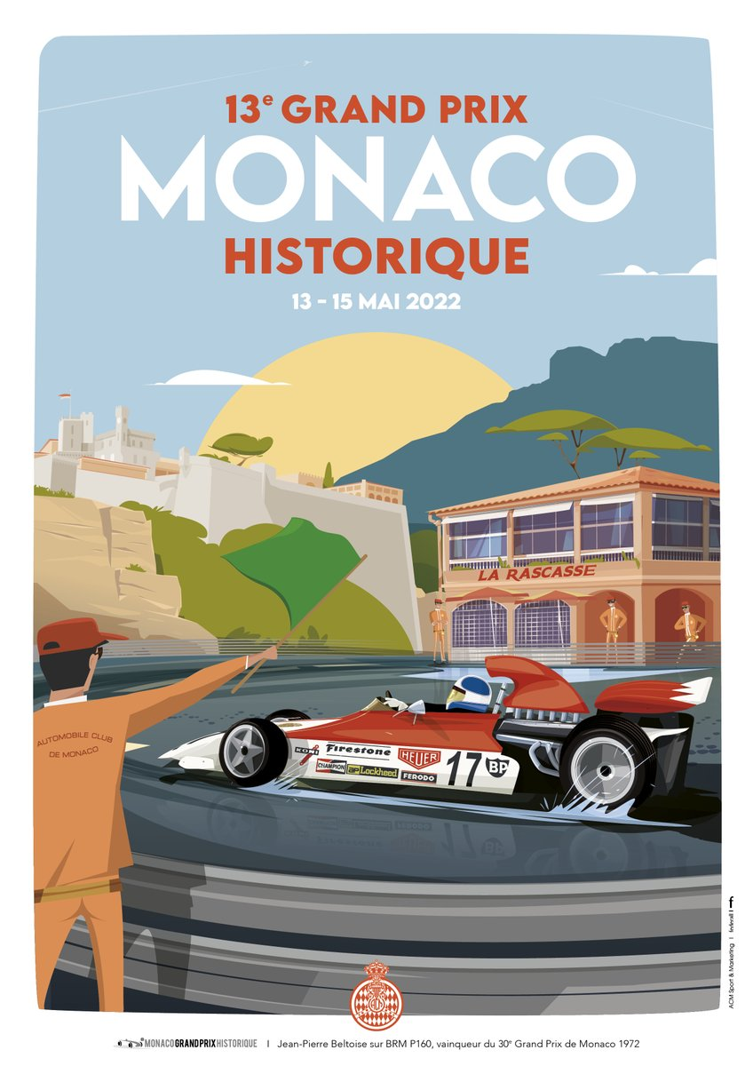 The 13th Historic Grand Prix will take place from May 13th - 15th in Monaco! Inscriptions are open and contact us if you need accommodation😉 #GrandPrixMonacoHistorique #HistoricGrandPrix