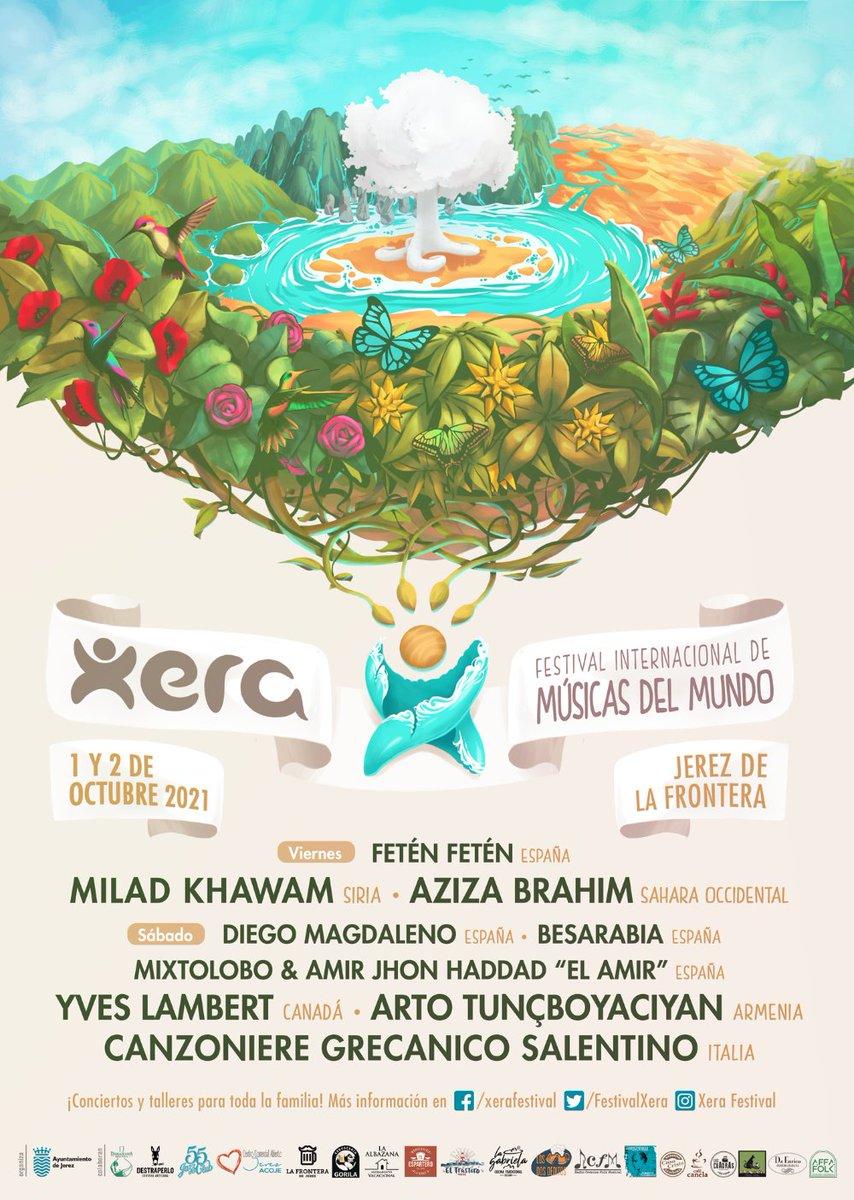[RADIO COLABORADORA] El @FestivalXera ya ha presentado su cartel y programa al completo de la edición 2021. Tenemos el placer de ser radio colaborada de este evento que se celebra en Jerez de la Frontera (Cádiz) del 1 al 3 de Octubre.