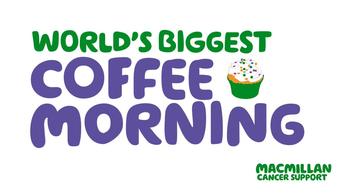 Are you holding a @macmillancancer coffee morning?  The World's biggest coffee morning is back for 2021  ☕  Host a coffee morning for your friends/family/colleagues this Friday and raise some money to support people with cancer 💚  #MacmillanCoffeeMorning #TheForgottenC
