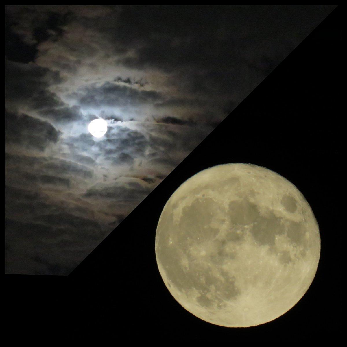 RT @orichan325: 中秋の名月と満月が重なったんですね✨  #中秋の名月 #満月 #CanonPowerShotSX60HS  📷2021.9.21...