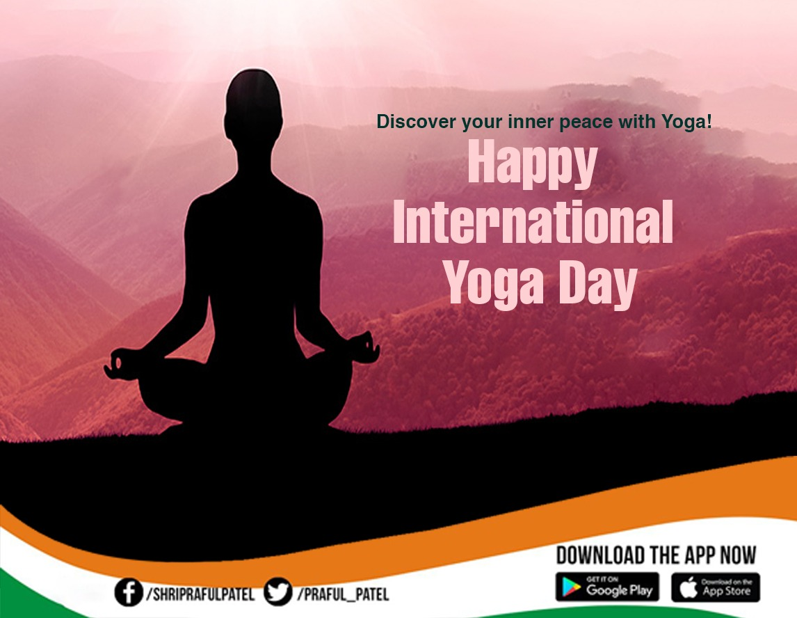 Yoga is an effective way of balancing our body, soul, senses and mind in order to live healthy and peaceful. Inculcate the habit of practising yoga in your life. Wishing you all a peaceful and healthy life on #InternationalYogaDay #YogaDay2020 #Internationalyogaday2020 #योगदिवस