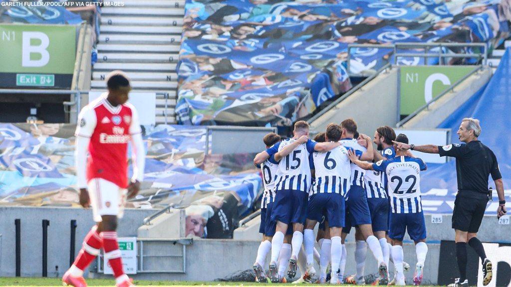 Brighton 2-1 Arsenal: Khóc hận phút bù giờ - 1