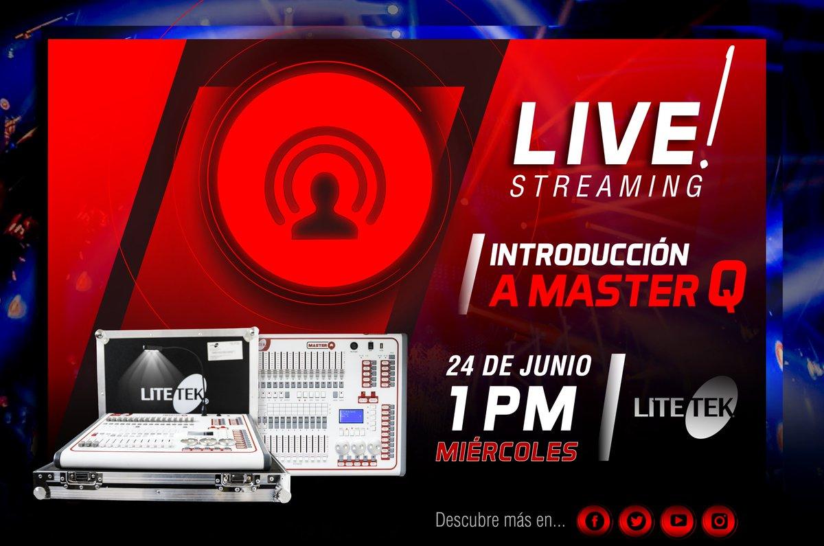 ¡¡#Miércoles de #LiveStreaming!! No te pierdas esta transmisión especial por Facebook en donde aprenderás lo básico del controlador DMX, Master Q.  ¡Nos vemos este 24 de junio a la 1 de la tarde! ¡No te lo pierdas! https://t.co/EvJZrhPWq1