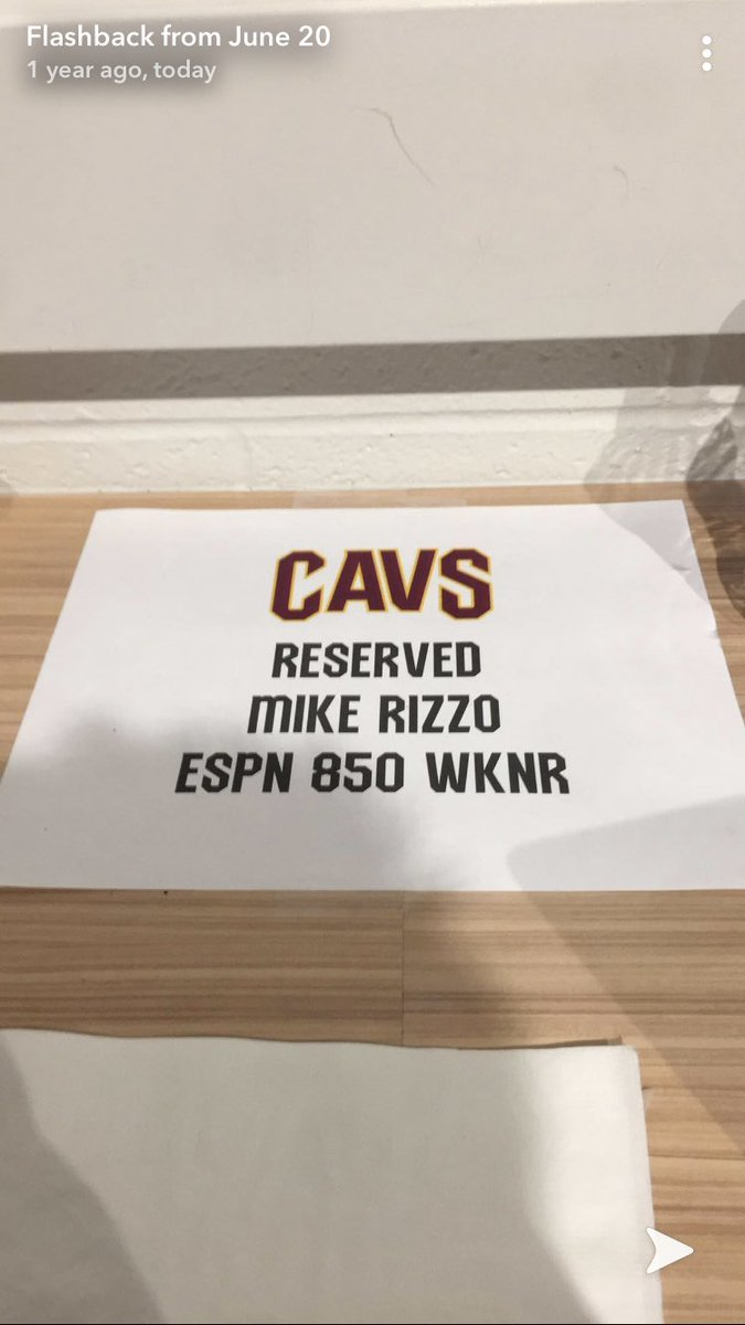 One year ago today @cavs draft night at the Q. Hit a home run in @Kevinporterjr I miss my career.