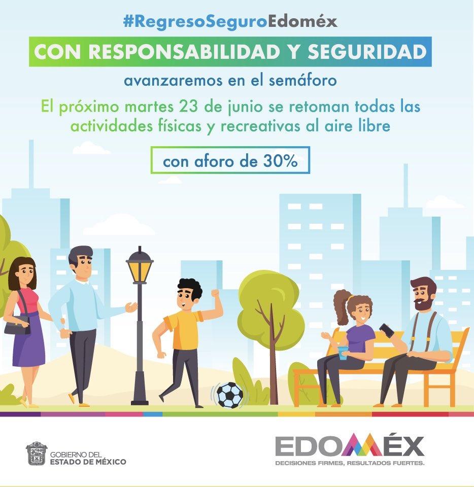 RT @alfredodelmazo: Juntos avanzamos al #RegresoSeguroEdoméx. https://t.co/VDuiLhKFuz