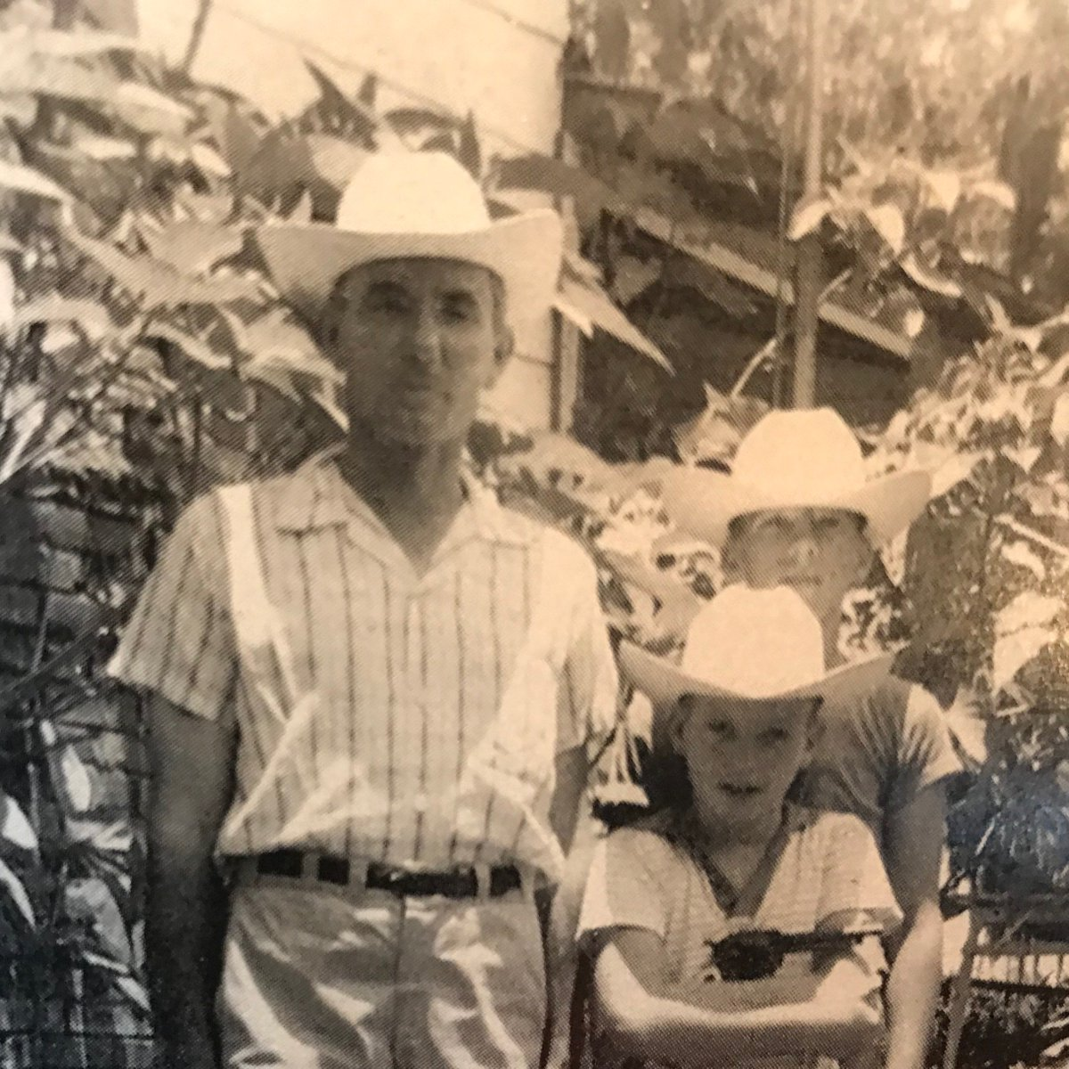 New hat day around 1958 with our dad Homer. Happy Father's Day. Hope you all have a great day. #FathersDay