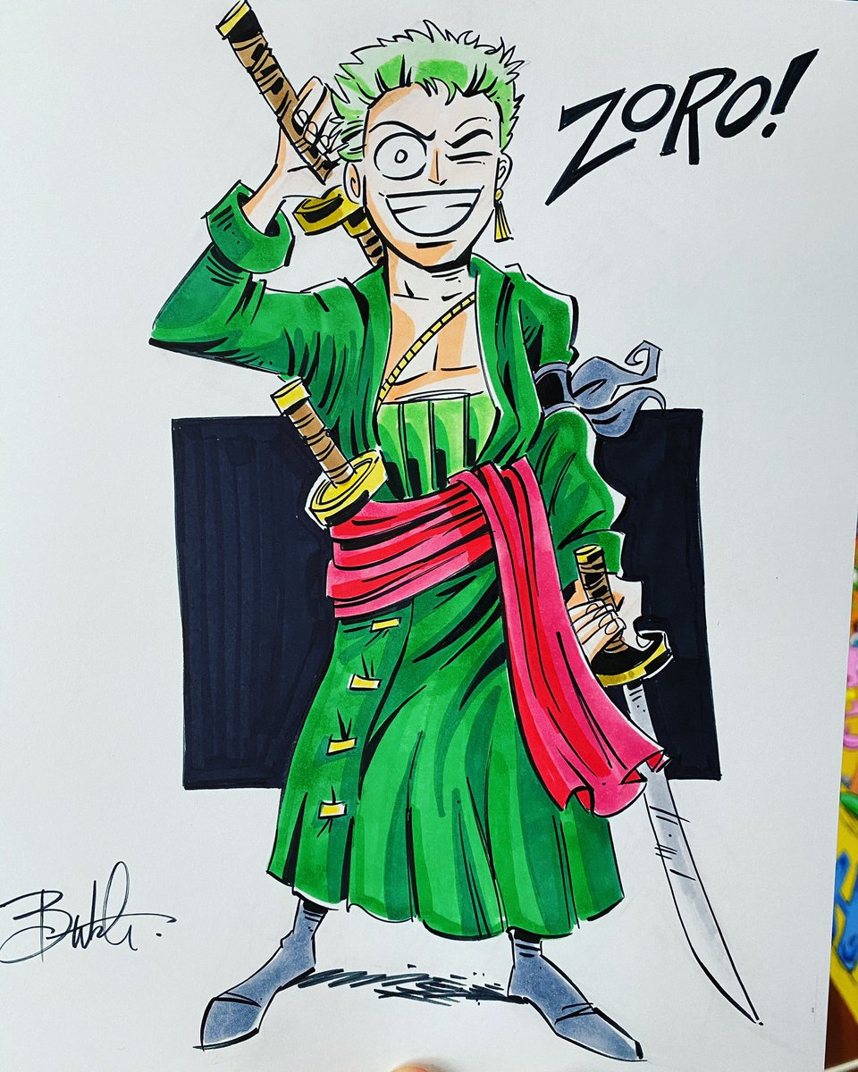 Zoro finished. Commission. Order here: https://t.co/C7MMkj0fI4 #onepiece #butchhartmandraws https://t.co/znX4igvIoP