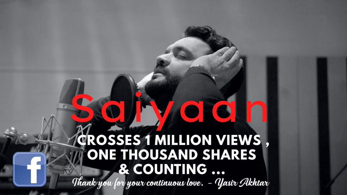 Thank you for your continuous love. I'm humbled!❤️ Watch #Saiyaan, soundtrack of Film #Azaad here; https://t.co/7YTt6boJ0e  #Sundayvibes #OST #Filmmaker #Singer #Actor #Producer #Pakistani #Pakistan #British #UK #London #Asian #BBCAsianNetwork #MotionContentGroup #GroupM https://t.co/kS9vNdFrSw