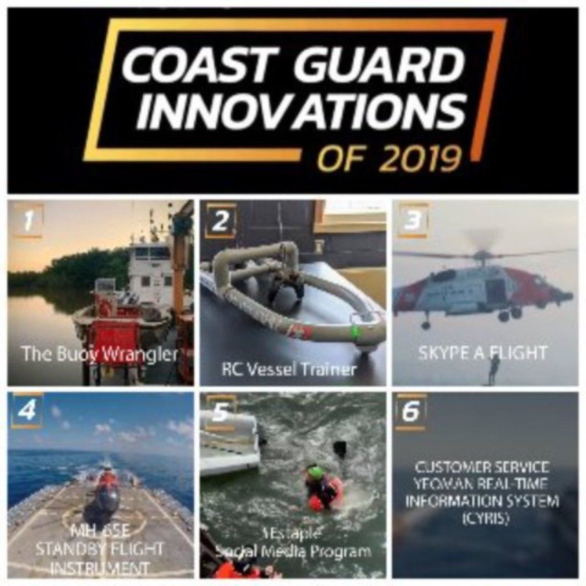Congratulations to the 2019 recients of the Capt. Niels P. Thomsen Innovation Awards. To see these recipients achievements, follow U.S. Coast Guard Facebook Page facebook.com/UScoastguard/