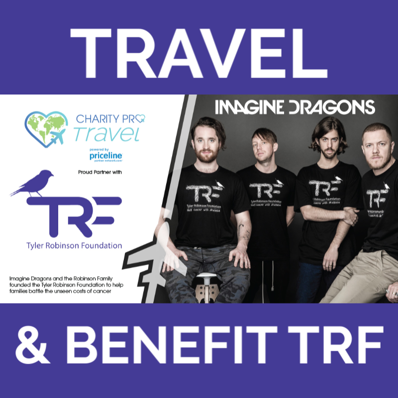 "Your wanderlust can now benefit TRF! Book your hotel, airfare, rental car, & vacation packages through @charityprotravel & theyll donate 50% of the commission to our pediatric cancer families. To book visit charityprotravel.com/trf & select ""TRF"" in the drop-down menu."