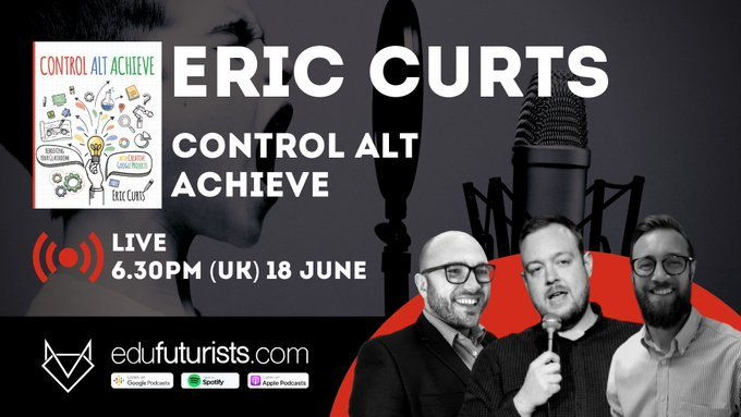 @EduFuturists great to be listening to the incredible @ericcurts