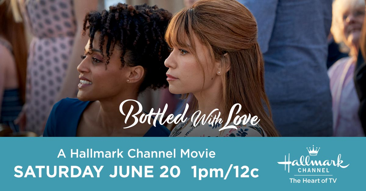 When Elaine @bethanybrown convinces Abbey @joylenz to write a love letter in a bottle she was sure no one would ever find it. Until someone does. Tune in to #BottledWithLove today at 1pm/12c.pic.twitter.com/lXg45XDtgY
