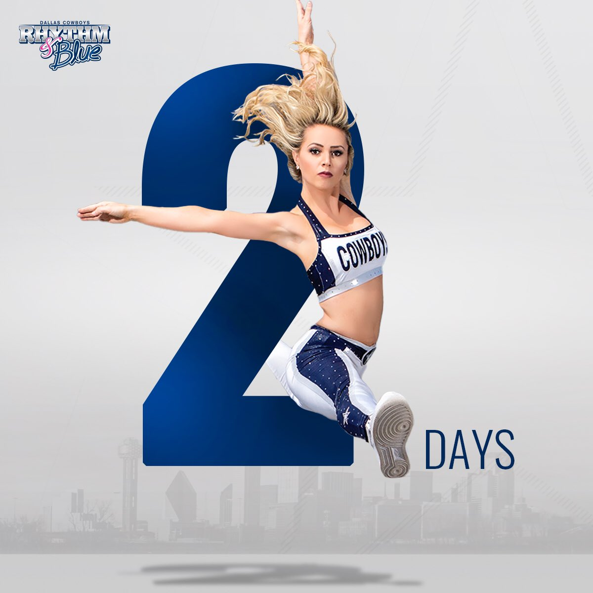 Only 2️⃣ days left to apply for the first ever online DCRB Dancer Auditions. Tag someone who should take the chance and chase their dreams to become a Dallas Cowboys Rhythm & Blue Dancer!  Apply today at https://t.co/38h2Qax3bI  📸 @rhileephotog https://t.co/va7KtKZ04T
