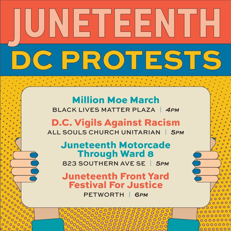 Whats happening in #dc on #JUNETEENTH2020 you ask?