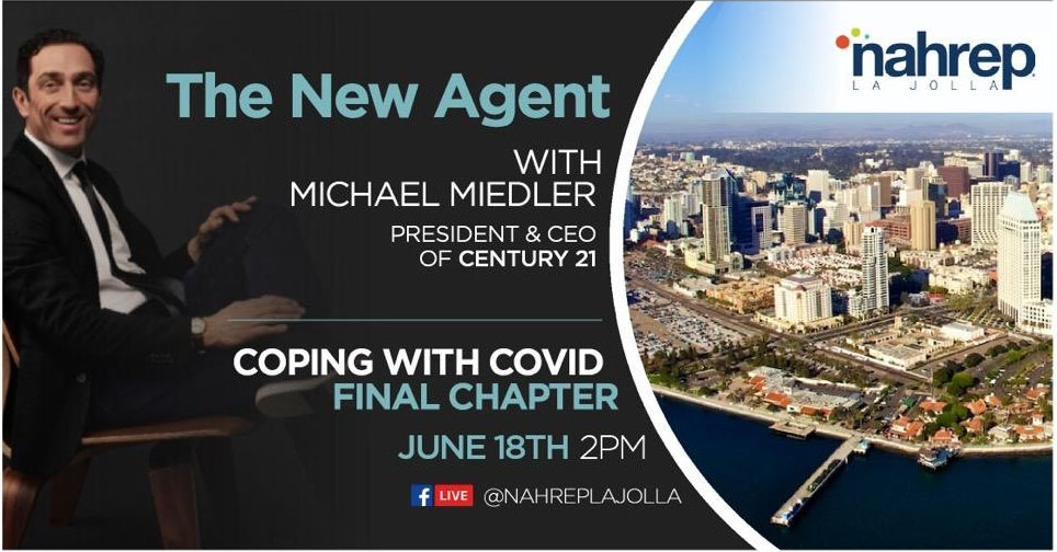 TUNE IN: What is the future of the #realestate agent in a post-COVID-19 world? C21 President & CEO Mike Miedler joins the @NAHREP La Jolla chapter today at 2PM PT/5PM ET to share his insights... https://t.co/xdusZX863l