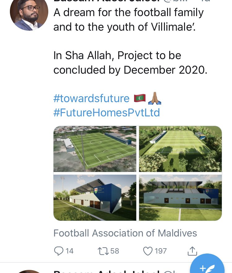 Finally got some clue what's happening with #Villimale ground... this is a dream for lot of residents here.. but at what cost.. https://t.co/btD39ckTPz