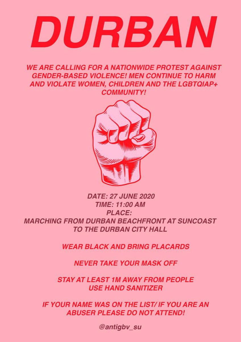 Durban please come through in numbers.🖤