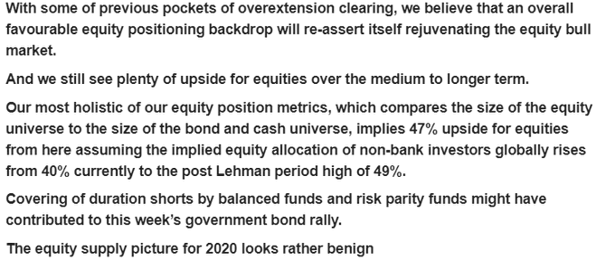 Equity analysis by JPMorgan, shared by Dan Tapiero of DTAP Capital/Gold Bullion International