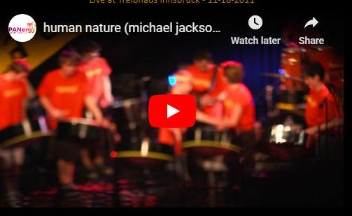 """PANERGY Steel Orchestra from Innsbruck, Austria present a live performance of  the song """"Human Nature"""" made famous by the late Michael Jackson.   https://www. panonthenet.com/av-recs/michae l-jackson/human-nature-2012-panergy.htm  …   #steelband #MusicExcellence <br>http://pic.twitter.com/3WGsQJ2q1n"""