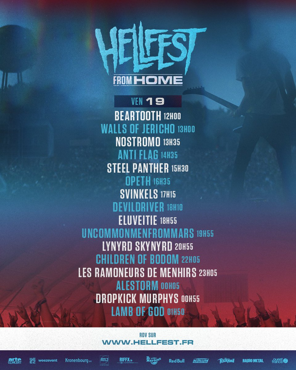 📺 HELLFEST FROM HOME 📺  DAY 1 ! Let's Go !   https://t.co/6G2Pg3FuO4  Running order : https://t.co/cK4NE4mJ6M  #hellfestfromhome #hellfest   cc @ARTEconcertFR https://t.co/i1ChVUdY54