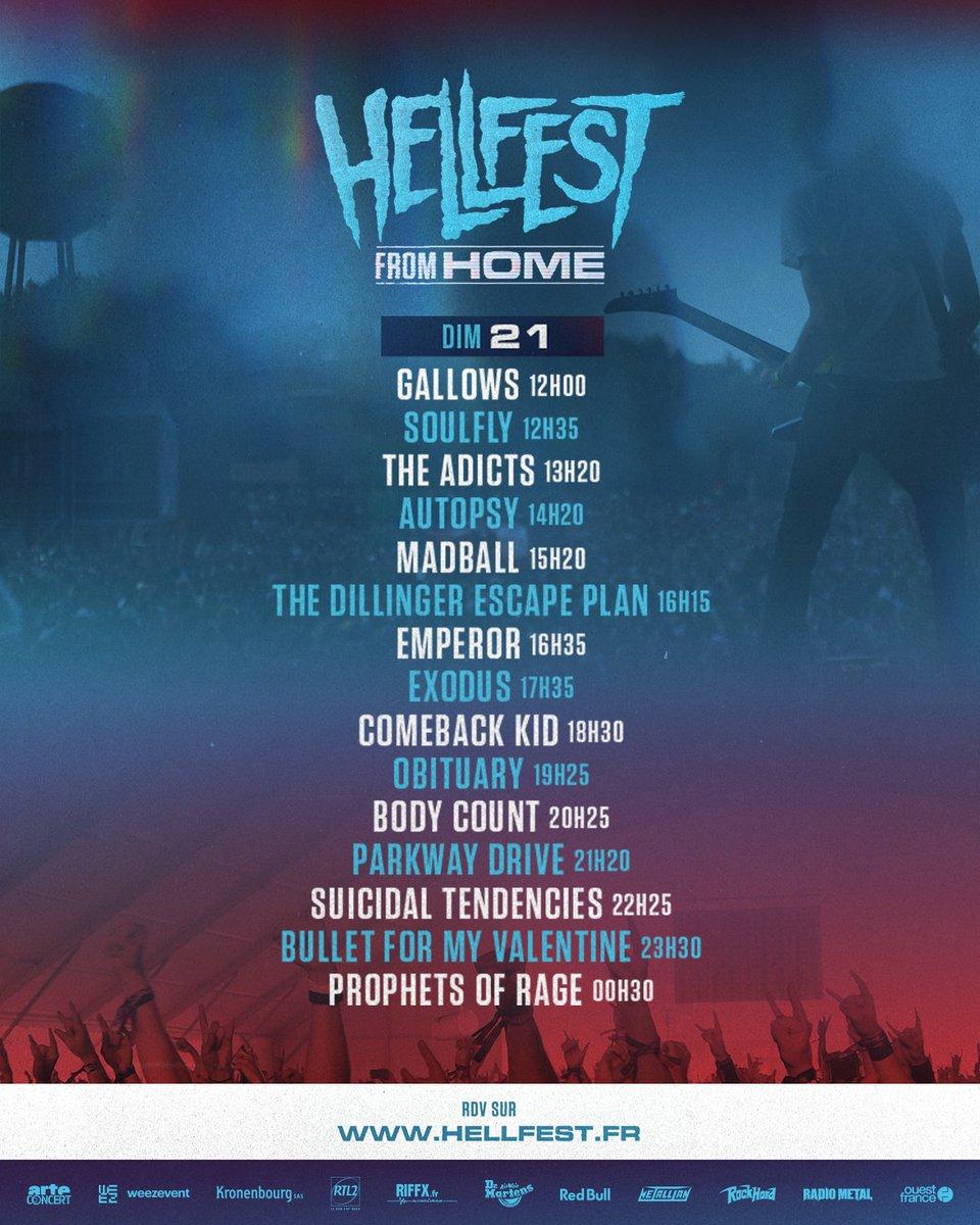 📺 HELLFEST FROM HOME 📺  DAY 3 ! Let's Go !   https://t.co/2ocS6Irorn  Running order : https://t.co/cK4NE458fe  #hellfestfromhome #hellfest   cc @ARTEconcertFR https://t.co/O4uM2Jegn6
