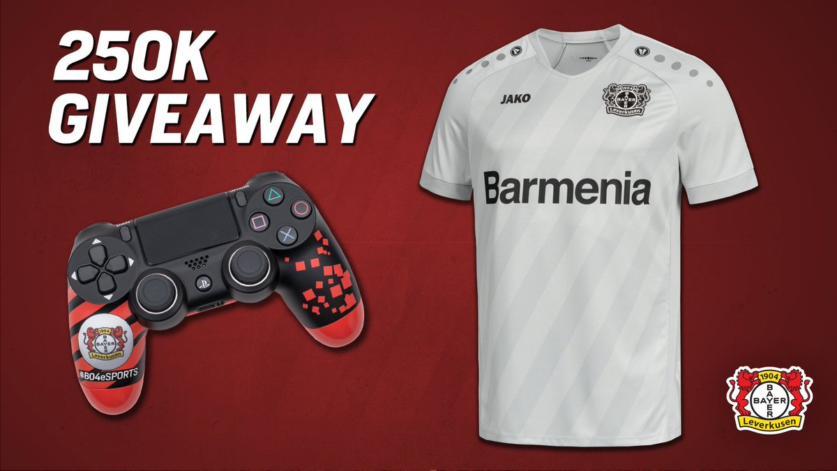 We'll send one of you a Bayer 04 🎮 and our third kit to celebrate our 250K milestone!  ❤️ and 🔁 for your chance to win.   Winner will be announced before kick off on Saturday! https://t.co/DXsR5lTadc