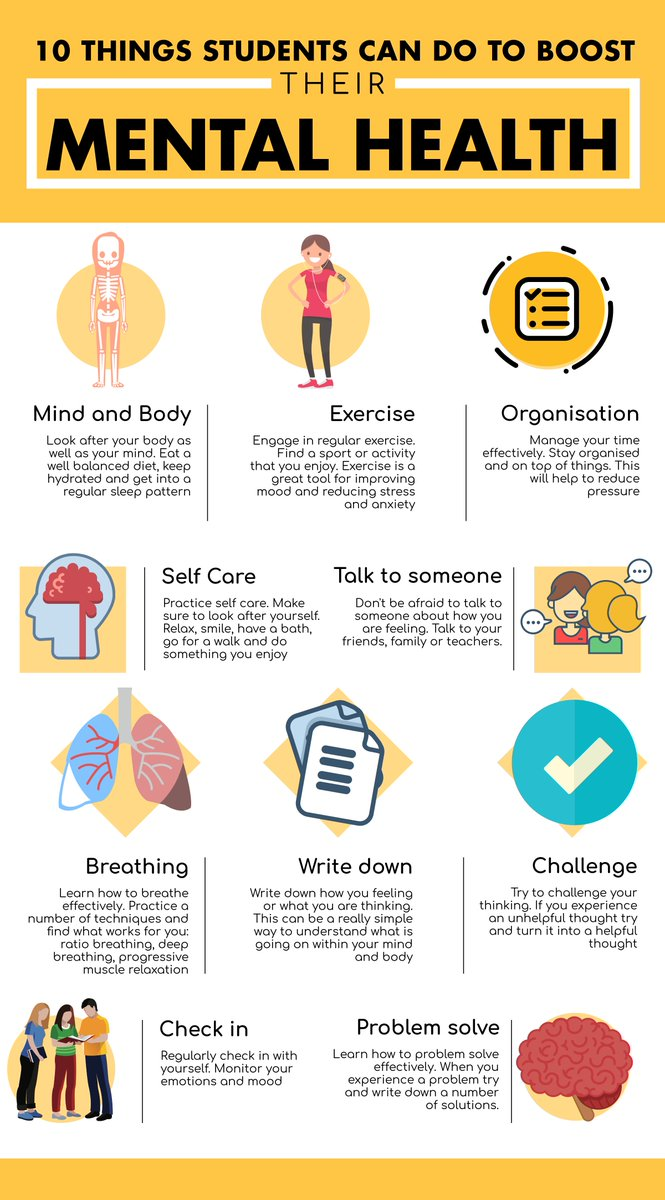 10 things students can do to boost their mental health