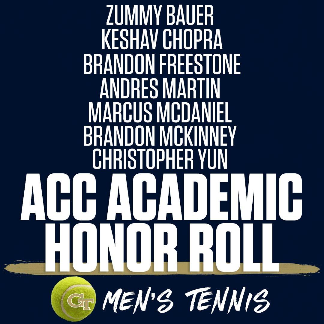 7⃣ mens tennis student-athletes named to @theACC 2019-20 Academic Honor Roll! Congratulations 🎾Zummy Bauer 🎾Keshav Chopra 🎾Brandon Freestone 🎾Andres Martin 🎾Marcus McDaniel 🎾Brandon McKinney 🎾Christopher Yun #ACCMTN #TogetherWeSwarm twitter.com/theACC/status/…