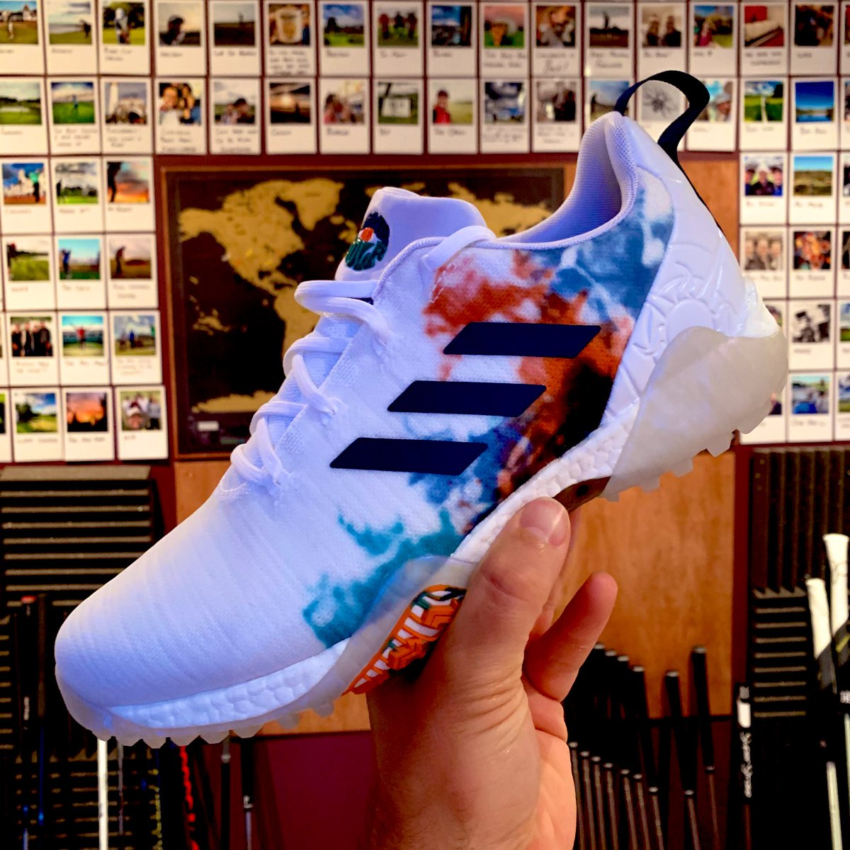 Summer Of Lovin...GOLF! Check out these cheeky @adidasGolf special edition #CODECHAOS I've also got a pair to #giveaway simply RT and comment your shoe size https://t.co/jAK4jmA7RQ