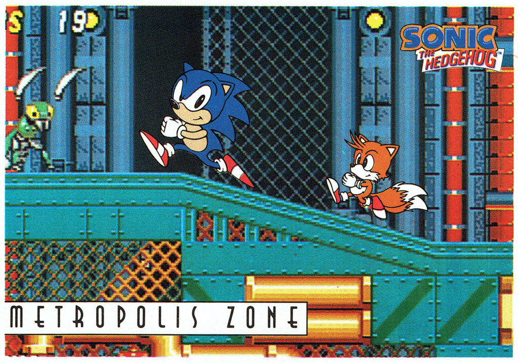 Sonic The Hedgeblog On Twitter Topps Sonic Collector Cards For Metropolis Zone From Sonic The Hedgehog 2