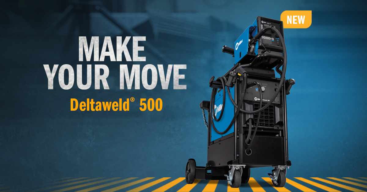 The new Deltaweld® 500 is here! Make your move to more power, capability and flexibility. Check it out. 👉 https://t.co/pRHwLFKLN8 https://t.co/Bx9ZUKMExj
