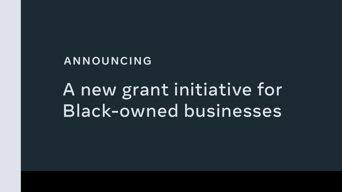 We're investing $100 million in Black-owned small businesses, Black creators and nonprofits that serve the Black community in the US. Click the link for more details: https://t.co/2ZpPFKL2tL https://t.co/E5fhuXgCpq
