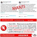 Image for the Tweet beginning: #FakeNews #MoveNouvel #Manti #Tcheck Paj