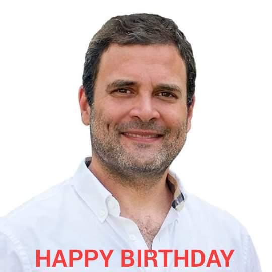 Happy birthday to our Beloved leader Rahul Gandhi gi