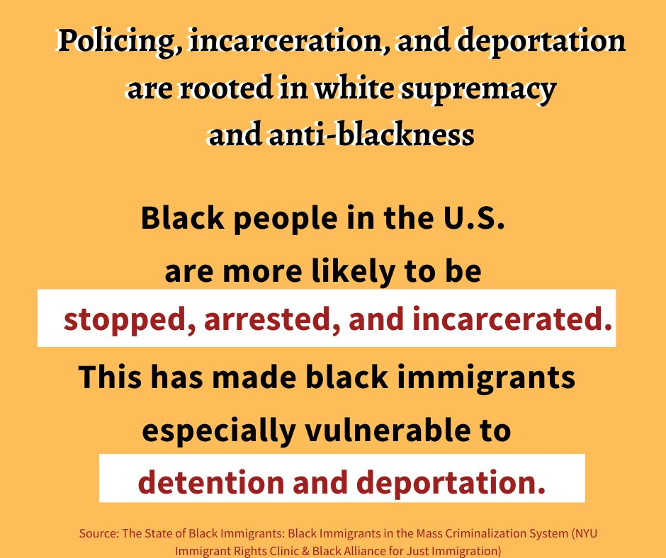 This: Policing, incarceration & deportation are all rooted in white supremacy and anti-blackness.