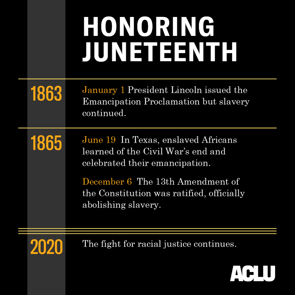 Happy Juneteenth!  We honor this day by working in solidarity with all those fighting for racial justice. https://t.co/kyFlJ7HqL4