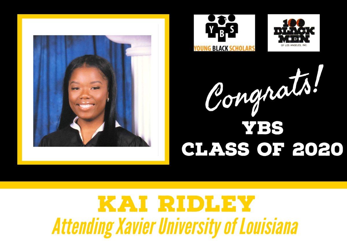Meet Young Black Scholars' Class of 2020 Senior Kai Ridley.  Kai will be attending Xavier University of Louisiana in the Fall.  Congratulations Kai!  @100bmoa @100BlackMenLA #ybs #100blackmen #youngblackscholars #collegebound