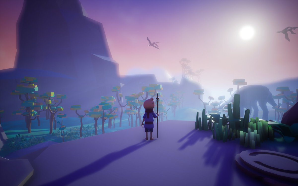 It looks lovely though and #Omno is intended to be a more gentle experience.  I didn't finish the demo at Rezzed but it seems like I wasn't far from the ending! https://t.co/ttefCn4JeC