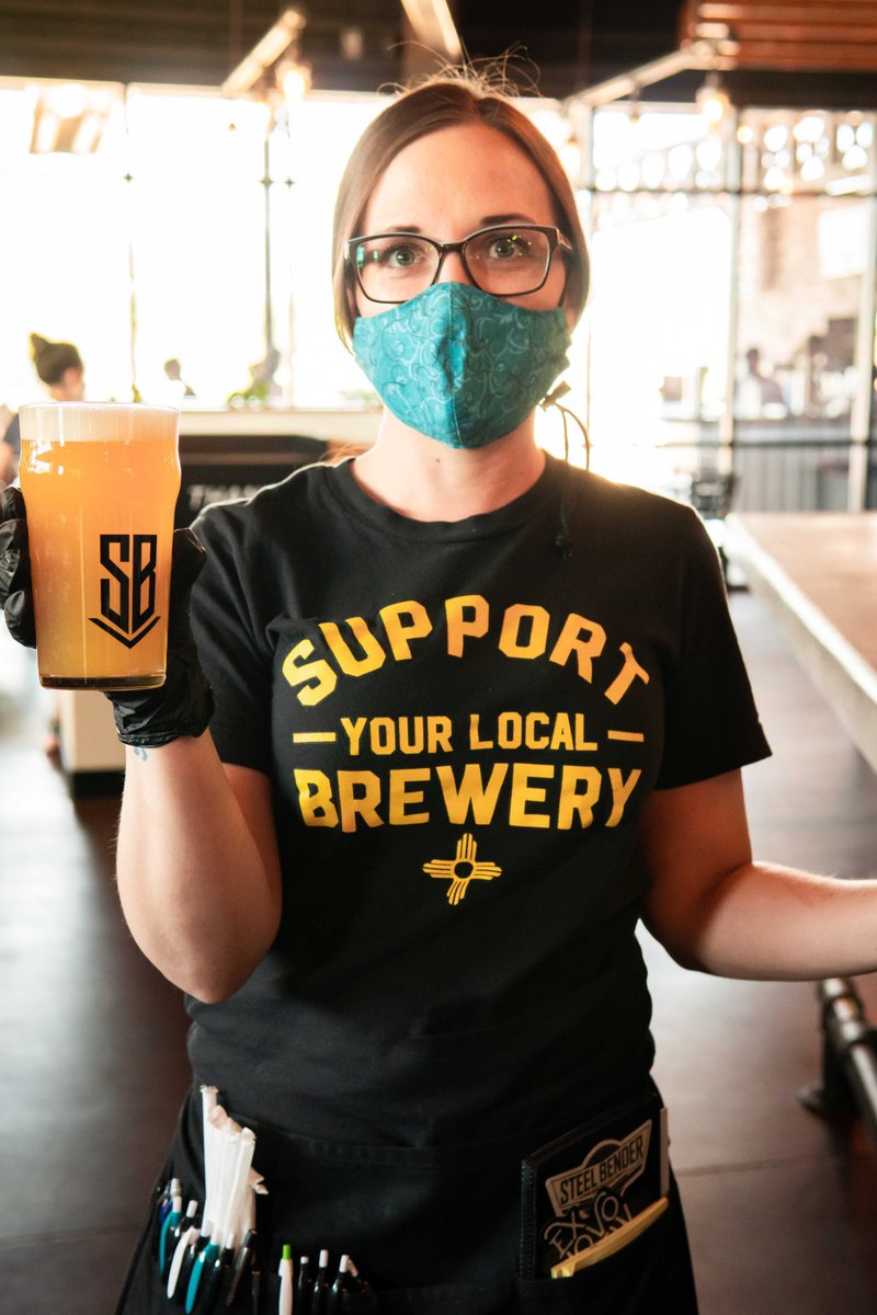 How can you support your local brewery?⠀ Get to the taproom, get your mask on, get to your table, get a pint, take your mask off, sip, and relax...⠀ Repeat often. ⠀ #wearyourmask #strongerthansteel #builttobrew #supportlocal #staystrongNM #albuquerque #burque #newmexico https://t.co/LobCXoKgYB