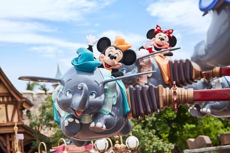 Mickey and Minnie Ride Dumbo
