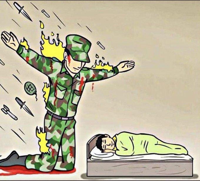 @shahidkapoor इनकी वजह से ही हम अपने घरों में आराम से सोते हैं। #IndiaStandWithArmy